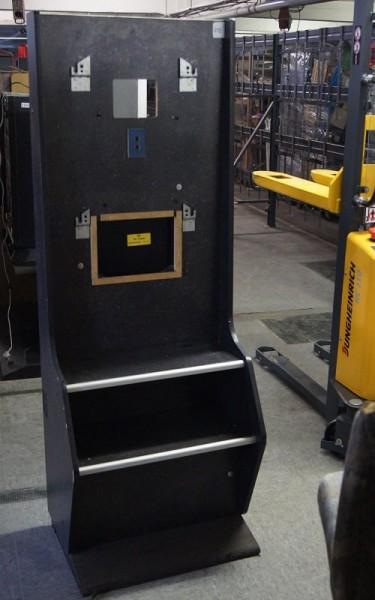 Automatenständer schwazr mit 1er Tresor