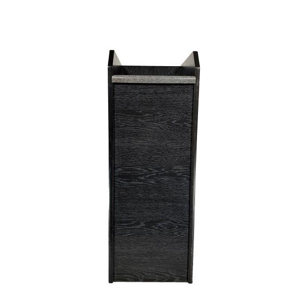 Zwischenablage, Holzoptik schwarz, kurze Ablagefläche