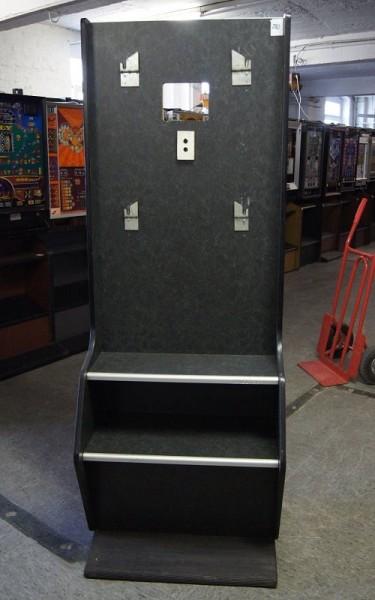 Automatenständer schwarz, mit silbernen Leisten