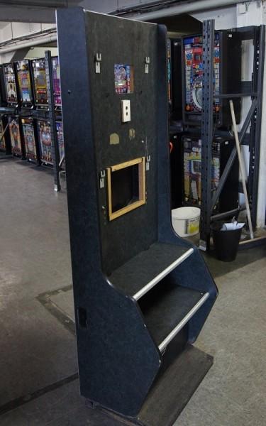 Automatenständer, schwarz mit silbener Leiste