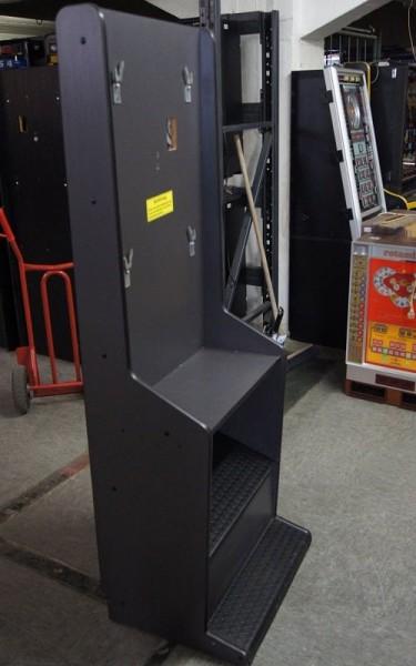 Automatenständer, schwarz mit silberner Leiste