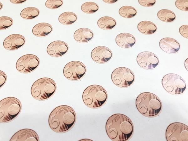 Aufkleber 0,05 Euro selbstklebend