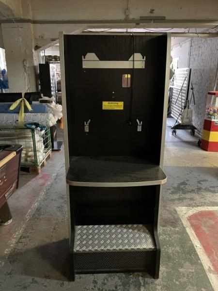 Automatenständer, schwarz/silber mit Riffelblech
