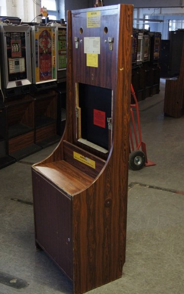 Automatenständer dunkelbraun, Holzoptik