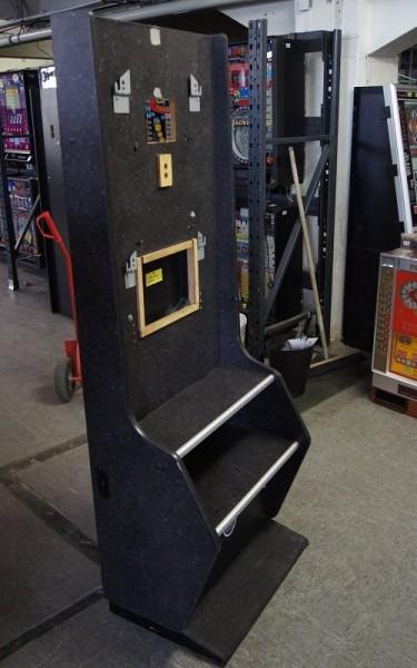 Automatenständer, schwarz, mit silberner Leiste
