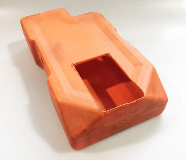 Merkur Kasse 80er Jahre , orange ohne Griff (Historisches Originalteil)