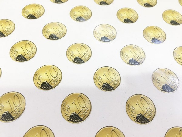 Aufkleber 0,10 Euro selbstklebend