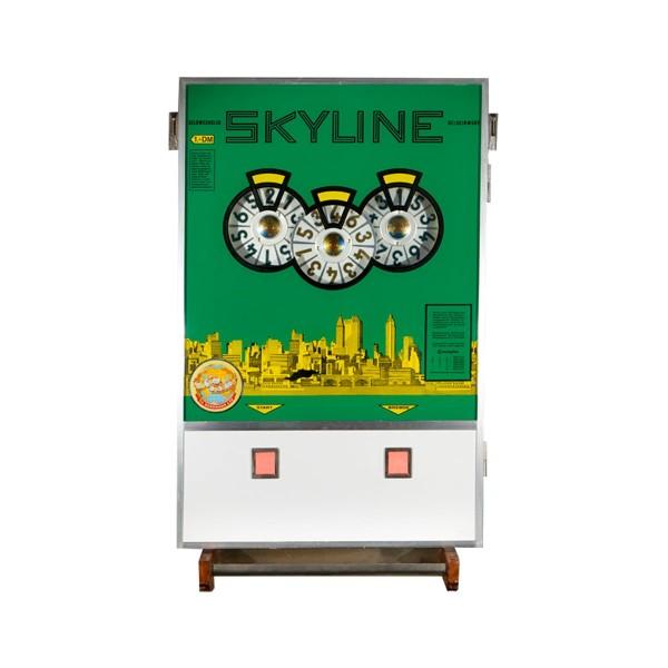 """""""SKYLINE"""" von Bergmann mit grüner Scheibe und Geldwechsler umgerüstet auf EURO"""