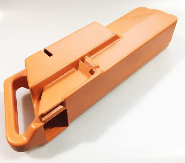 Merkur Fallkasten Standgerät, orange mit Griff Historisches Originalteil) Variante 2
