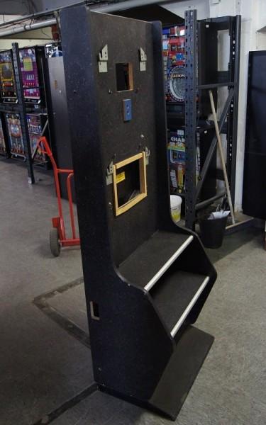 Automatenständer schwarz, mit silberner Leiste