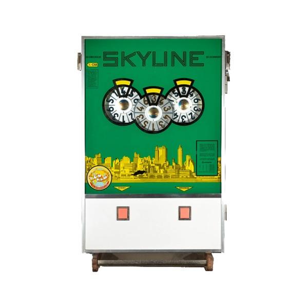 """""""SKYLINE"""" von Bergmann mit grüner Scheibe umgerüstet auf EURO nimmt auch DM 0,10"""