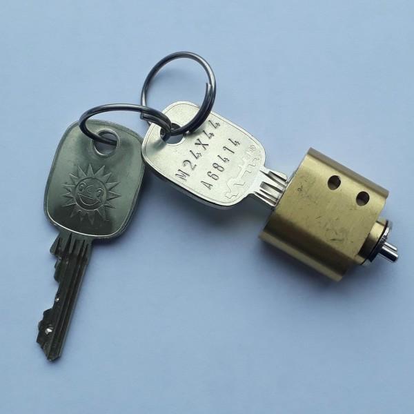 Schloss oval, mit 2 Schlüsseln, für Merkur Automaten