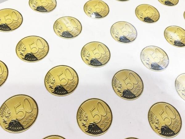 Aufkleber 0,50 Euro selbstklebend